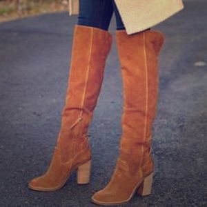 e9b91c78409 Dolce Vita Shoes - Dolce Vita Cliff Acorn Suede Over the Knee Boots